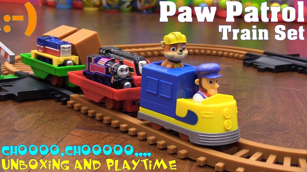 Kid S Toy Trains Paw Patrol Adventure Bay Railway Track