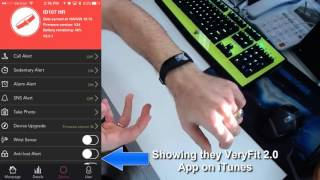 Veryfit 2 ID107 Smartband Video Review Showing iTunes App Too