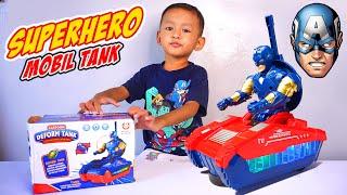 Mainan Mobil TANK Bisa Beubah Menjadi Robot Kapten Amerika | Mainan Mobil Mobilan Robot Superhero
