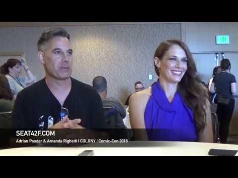 Adrian Pasdar & Amanda Righetti COLONY Interview Comic Con 2016