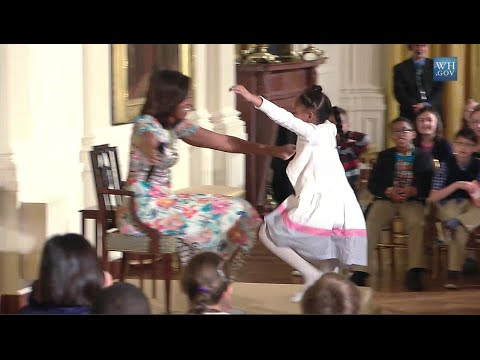 Little Girl Asks How Old Michelle Obama Is- Hugs Ensue