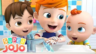 Wash Hands Song | Wash Your Hands For Kids + More Nursery Rhymes & Kids Songs - Super JoJo