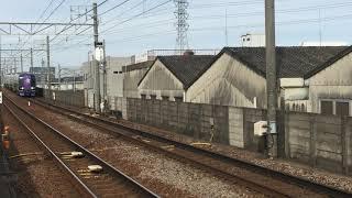 名鉄2000系2007F エヴァンゲリオンラッピング 名鉄常滑線名和駅通過