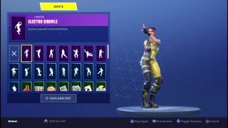 "FORTNITE ""WHIPLASH"" Skin Showcased with 20+ Dances/Emotes 