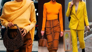 ЖЁЛТЫЙ КАК САМЫЙ МОДНЫЙ ОТТЕНОК осень зима 2020 2021 мода для женщин за 50