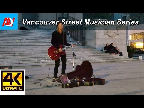 "Vancouver STREET MUSICIAN: CLAYTON SCOTT SINGS ""THE GIRL"" by City and Colour @ Robson Street - 4K"
