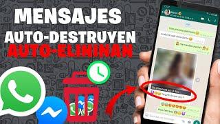 Enviar mensajes autodestruibles por whatsapp