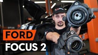 Cómo cambiar copelas del amortiguador delantero en FORD FOCUS 2 (DA) [INSTRUCCIÓN AUTODOC]