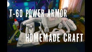 Силовая броня из Fallout 4 своими руками в pepakura / Часть 2 / Броня