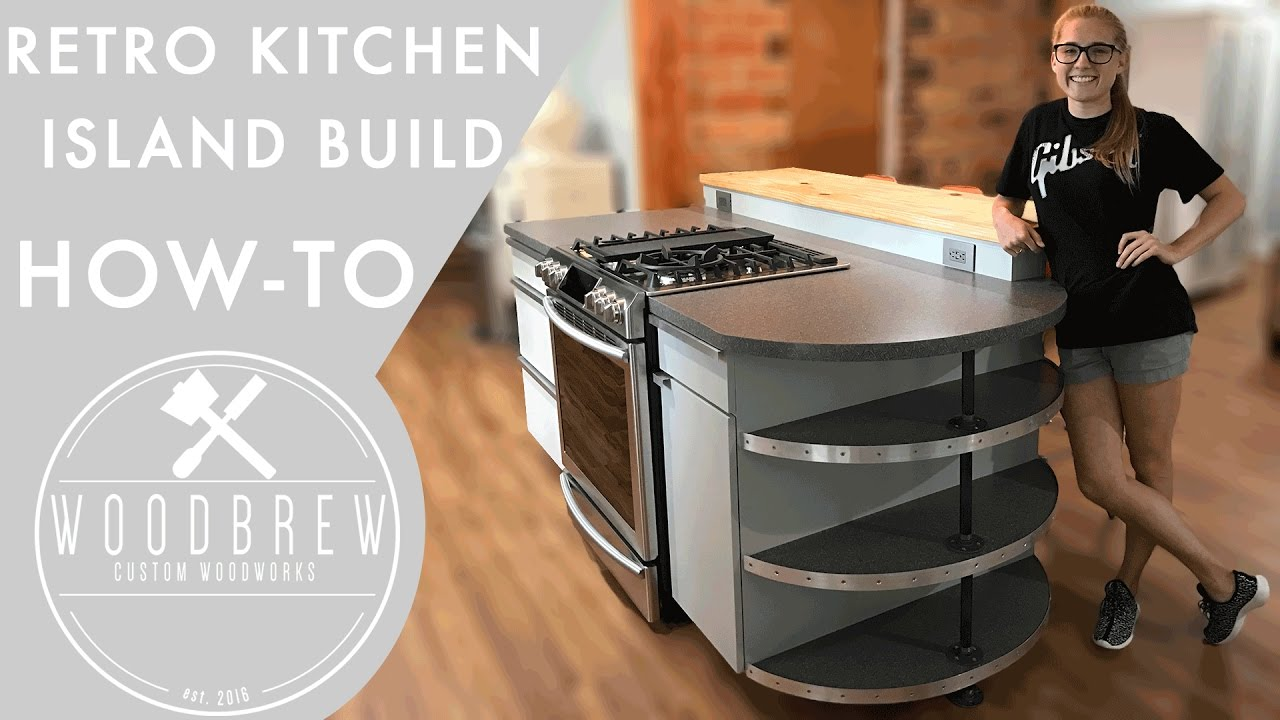 Making A Modern Kitchen Island - YouTube