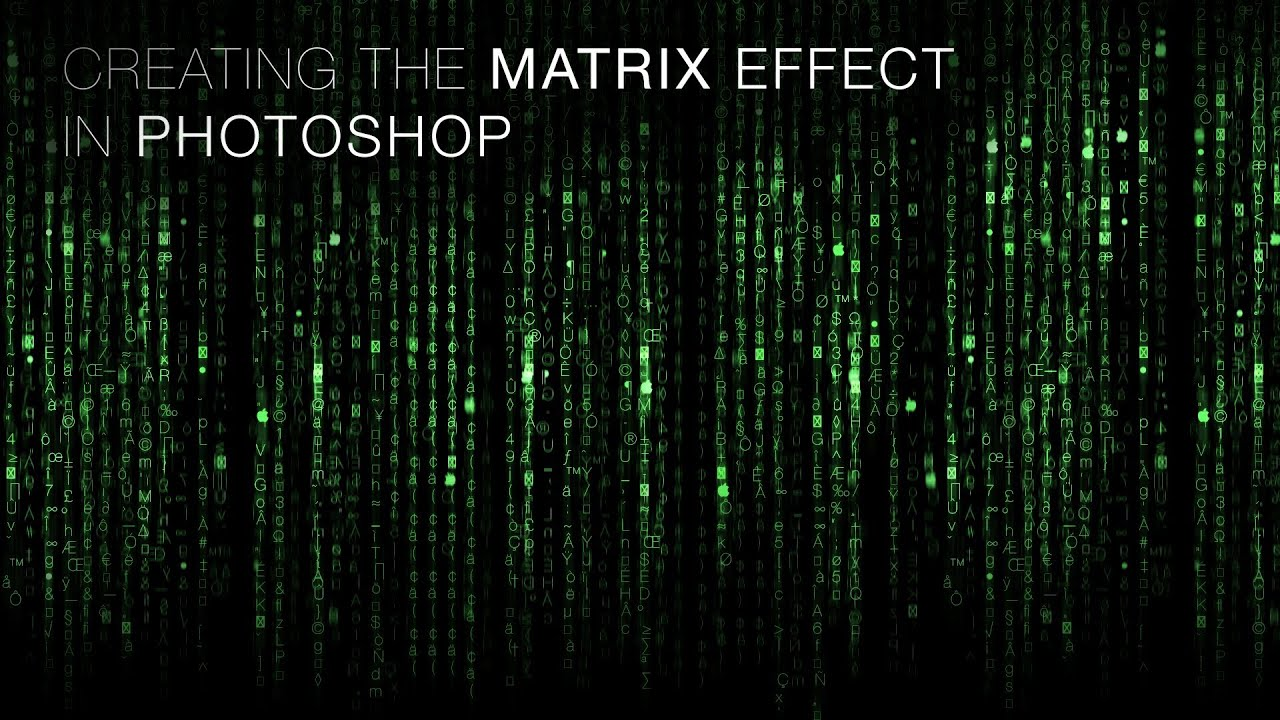 Photoshop tutorial: enter the matrix & embed a face into it youtube.