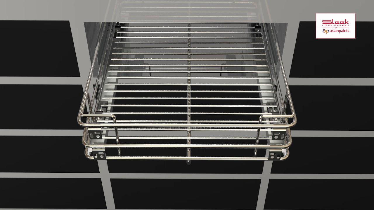 Sleek Undermount Channel for Wire Basket Installation - YouTube