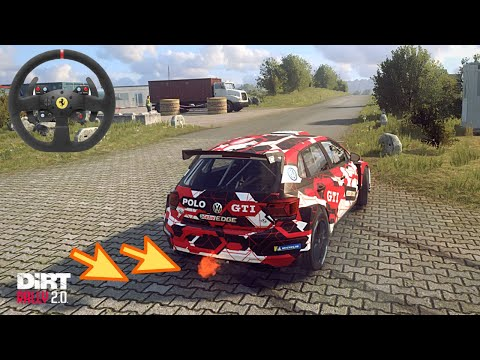 VW POLO GTI R5 - Dirt Rally 2.0 - Germany DLC | Thrustmaster T300 gameplay - [PS4 PRO] 60FPS
