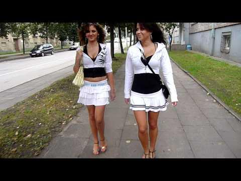 """""""Lithuanian Girls"""" - walking in tandem - Vilnius, summer 2011. Also, You Tube: Mrjurgismaleckas"""