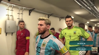 ARGENTINA vs PORTUGAL SPECTACULAR MATCH PES 2017 GAMEPLAY