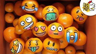 TANGERINE EMOJI   10 Funny Drawings on Season Fruits   BLABLA ART