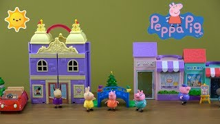Peppa Pig Christmas Recital Story with NEW Peppa Pig's Performing Arts Center and Music Room Toys