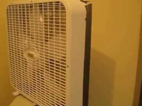 Box fan air cleaner test