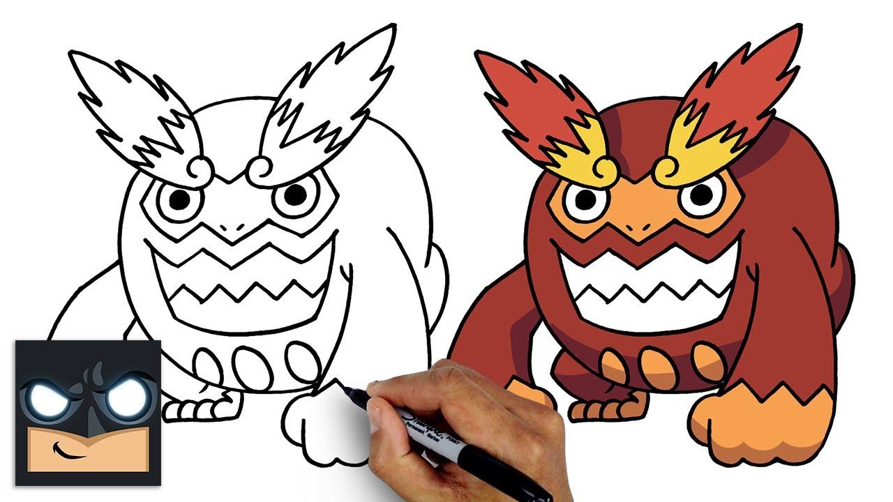 How To Draw POKEMON   DARMANITAN