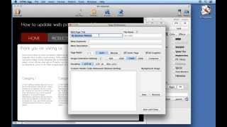 How to update web page title and file name using HTML Egg for Mac