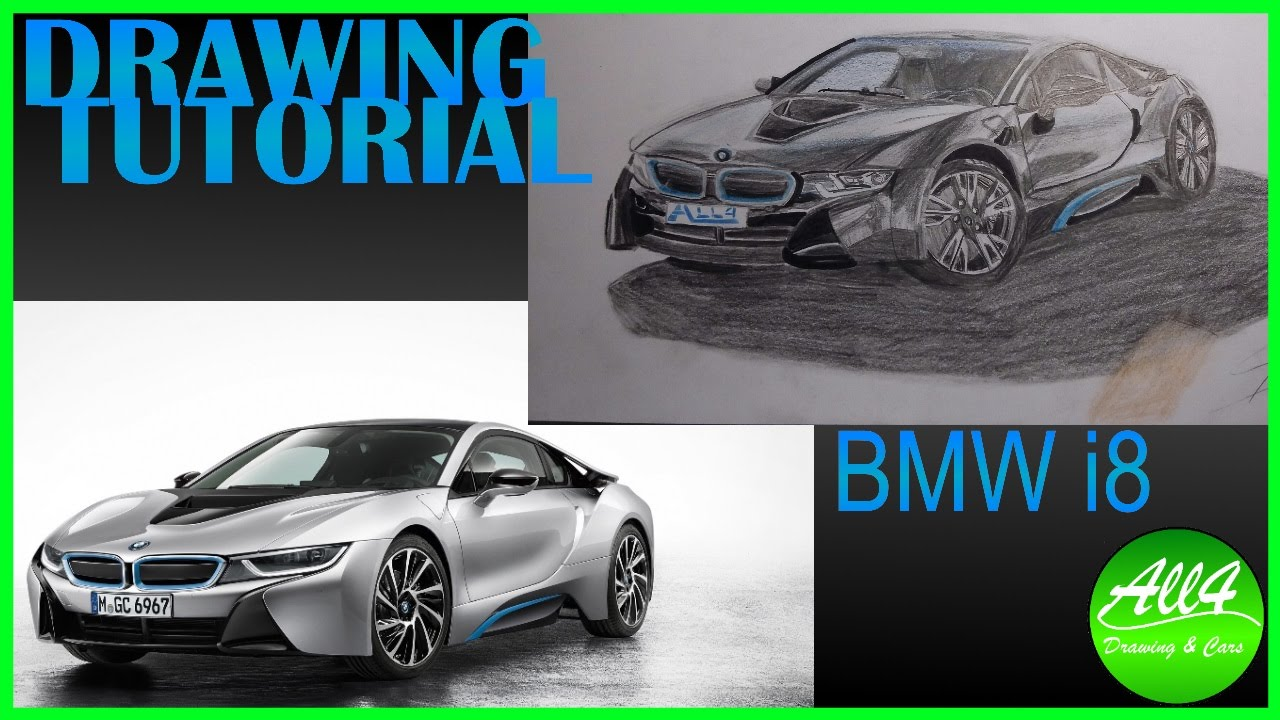 Drawing Tutorial Drawing Bmw I8 Youtube