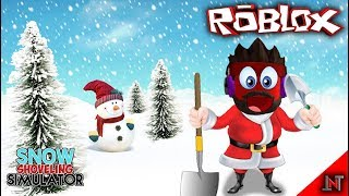 ROBLOX Indonesia #65 Snow Shoveling Simulator   Whistle snow make love to eat snow doll