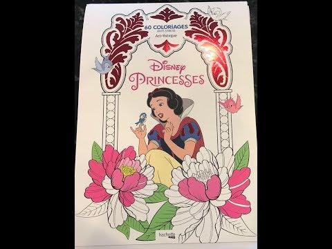 Flip through of Disney Princesses Coloring Book by Hachette Heros
