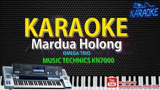 KARAOKE Mardua Holong [ Omega Trio ] Technics KN7000 HD Quality Lagu Batak  Lirik No Vocal 2018