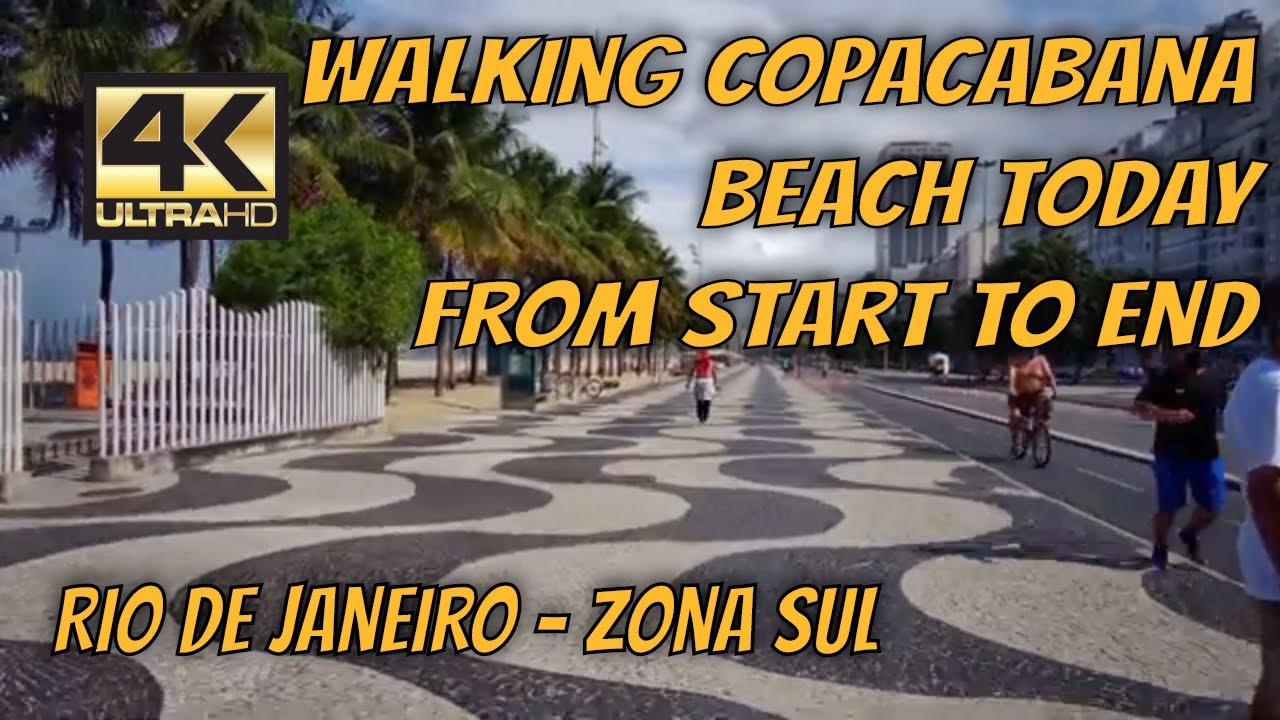 【4K】🚶 Walking [ COPACABANA BEACH TODAY ] from [ BEGINNING TO END ] full tour   Rio de Janeiro by Car