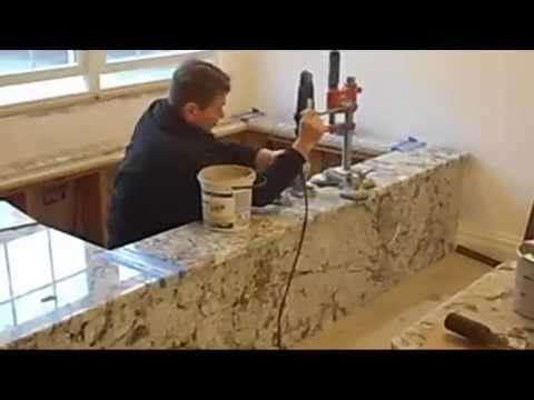 How To Drill Holes In The Granite And Finish Seam