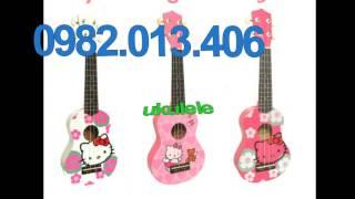 Đàn ukulele hình mèo  kitty siêu dễ thương tại nhạc cụ nụ hồng