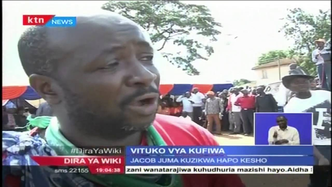 Download Vituko huko Bungoma wakati maiti ya Jacob Juma ilipowasili