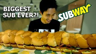 Biggest Subway Sandwich Challenge!