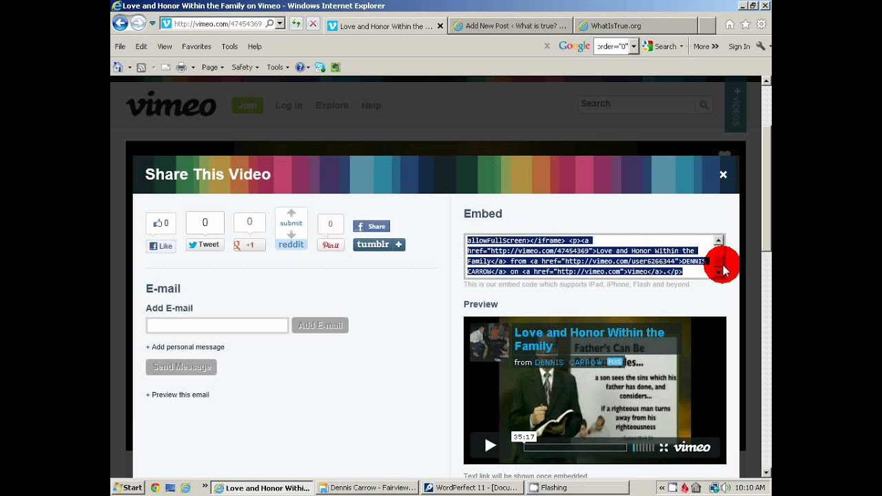 How To Embed Vimeo Video On Your Wordpress Website