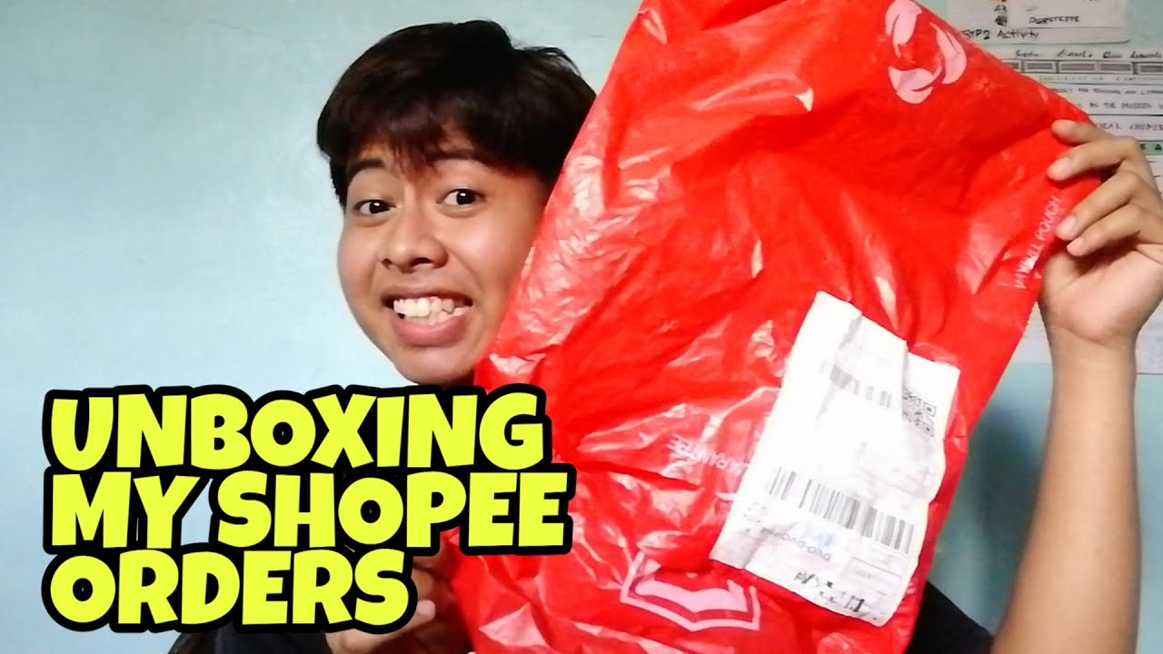 UNBOXING MY 4 ITEMS SHOPEE ORDERS