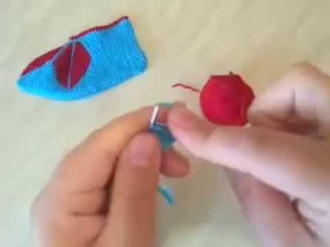 Видео вязание спицами следки