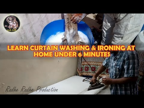 Curtain Wash | How To Wash Curtains With Rings In Washing Machine and Iron At Home In Hindi