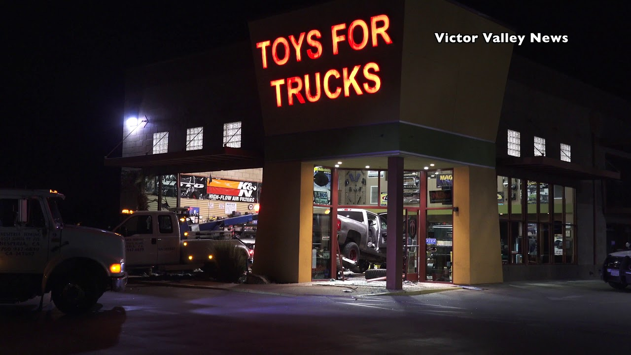 Man Crashes Truck Into Toys For Trucks Business In