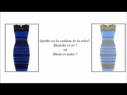 DoréeI Et Couleur Bleu NoirBlanche Quelle Robe De La Est fb7ygY6