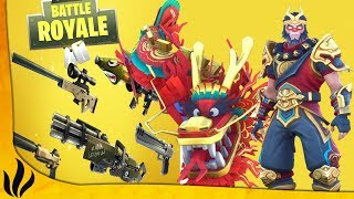 NEW SOLID GOLD MODE - DRAGON SKIN! (Fortnite: Battle Royale)
