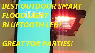 REVIEW LE iLUX Smart Outdoor LED BLUETOOTH  Flood Light, 10W RGB, Dimmable, IP65 Waterproof