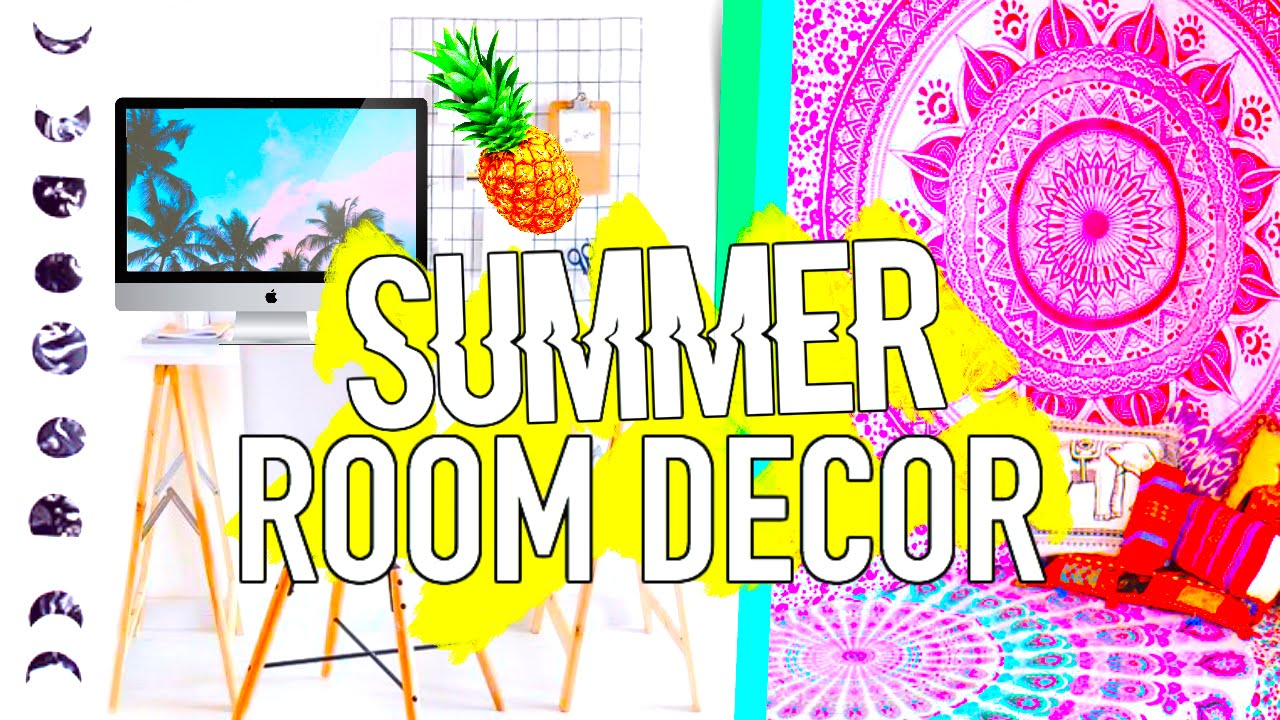Diy Summer Room Decor Tumblr Inspired Easy Affordable Youtube