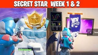 Fortnite temporada 7 SECRET Battle Star Locations semana 1 y 2 & BANNER