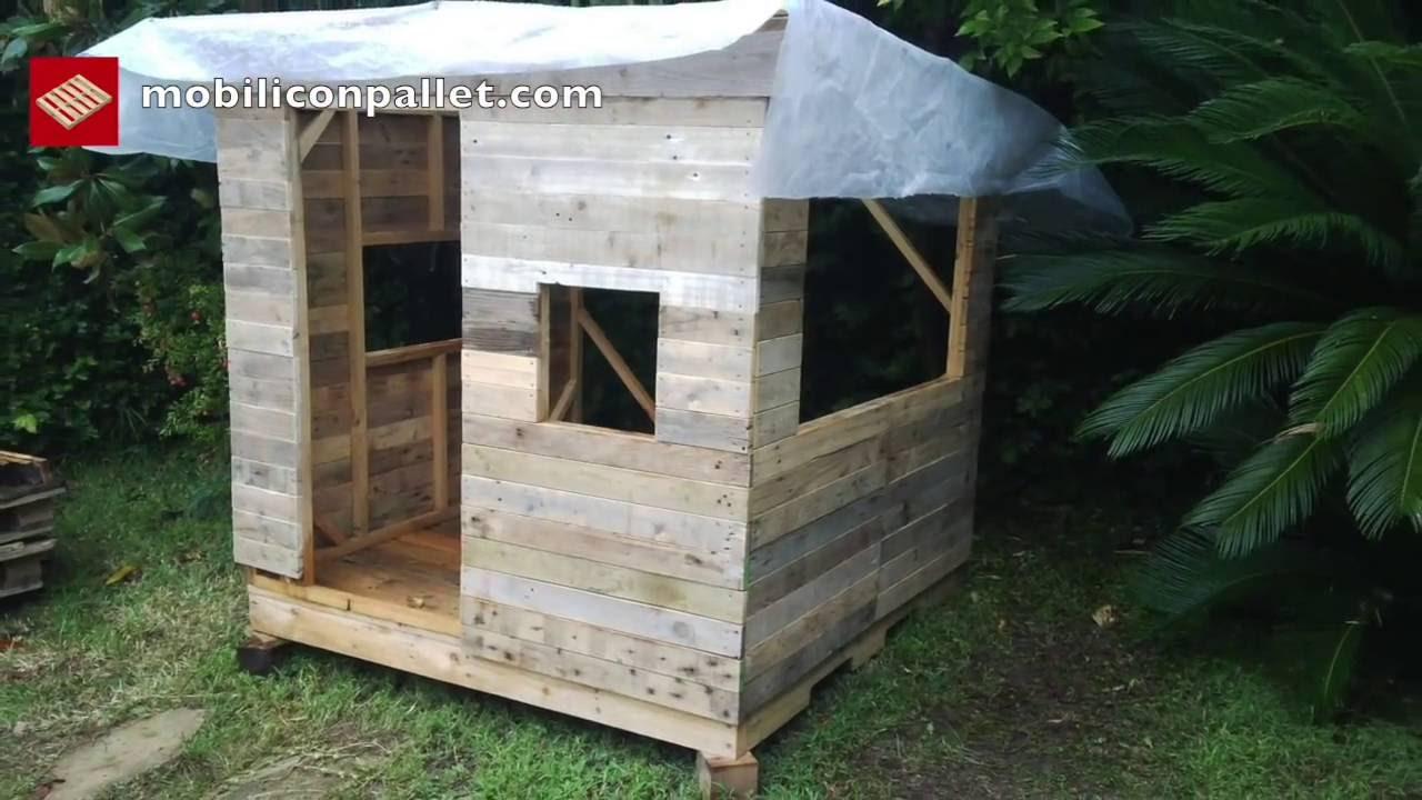 Come fare una casa per i bambini con pallet passo dopo for Come costruisco una casa