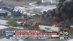 Recycling plant on fire in Phoenix