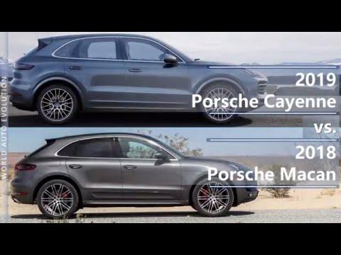 2019 Porsche Cayenne Vs 2018 Porsche Macan Technical Comparison Youtube