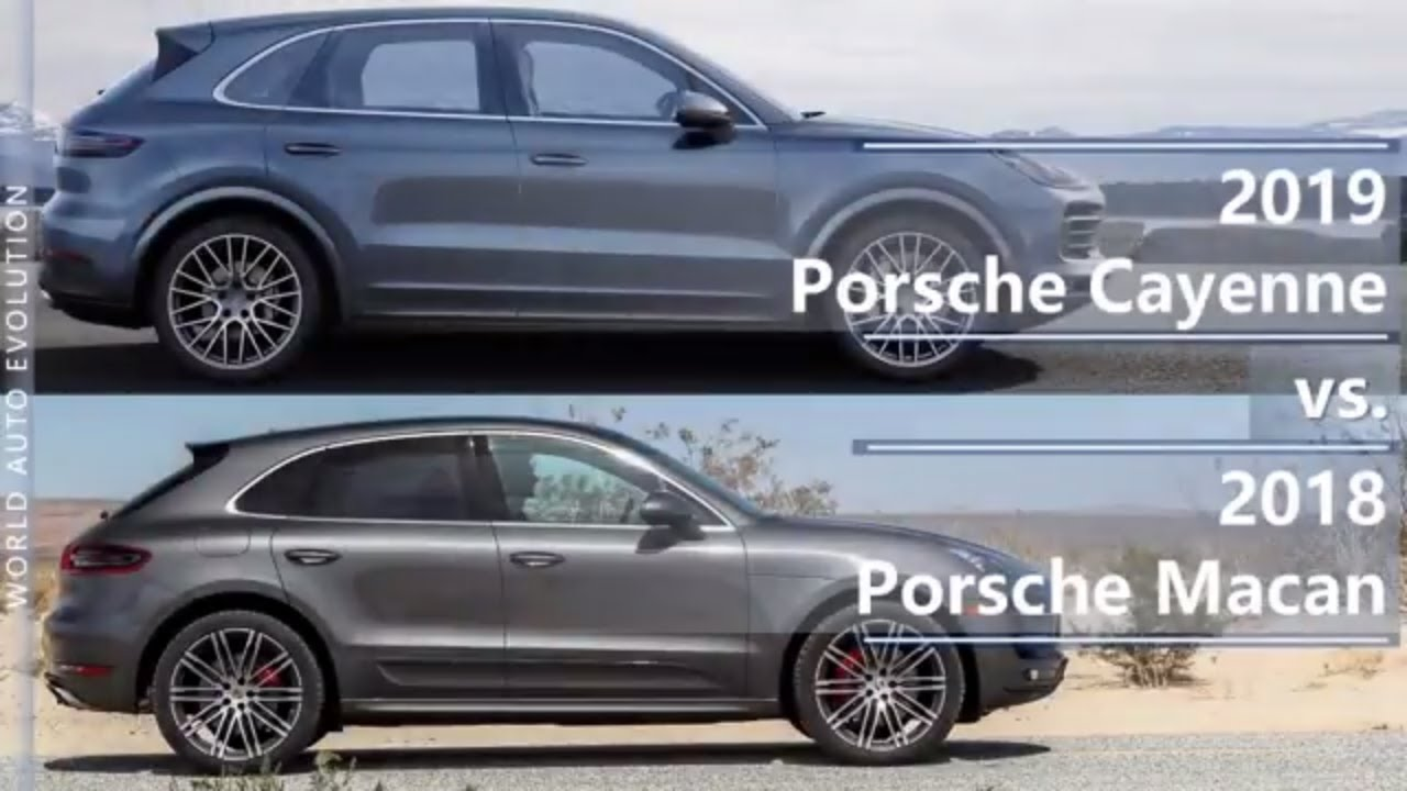 2019 Porsche Cayenne Vs 2018 Porsche Macan Technical Comparison