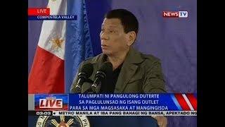 Talumpati ni Pangulong Duterte sa paglulunsad ng isang outlet para sa mga magsasaka at mangingisda