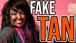 Woman Uses As Much Fake Tan As Possible