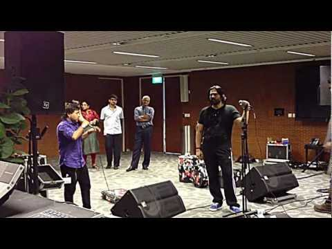 Kailash Kher and Shafqat Amanat Ali at Rehearsal for Anhad